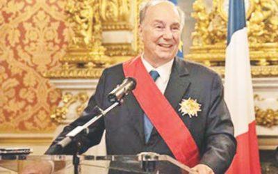 アガ・カーンは最高のフランス名誉を授与される
