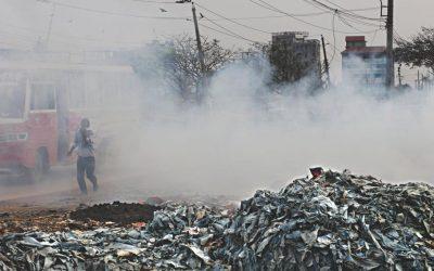 ダッカの大気汚染は依然深刻