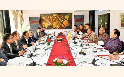 M Shahidul Haque外務長官とそのブータン人