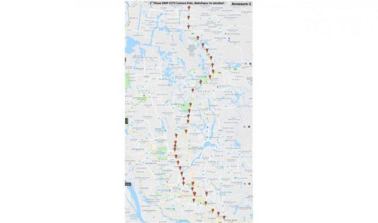 100台の交通監視カメラ