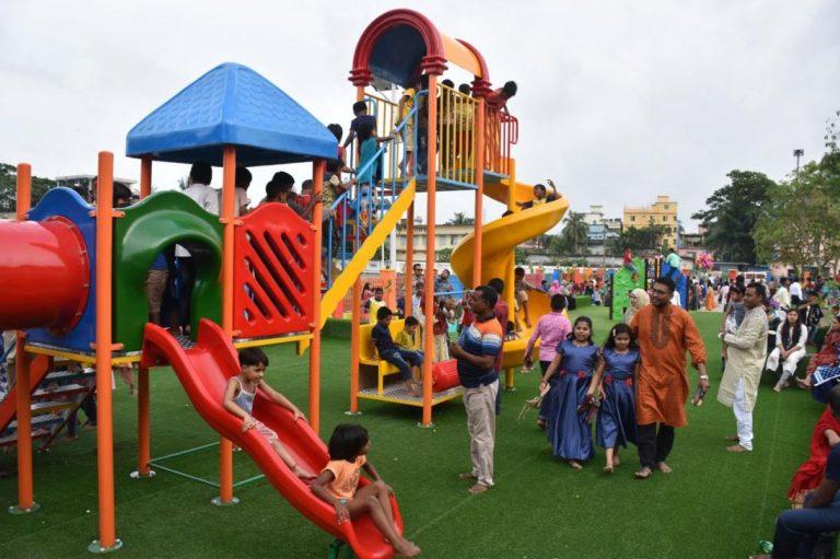 ボリシャルに児童公園開設