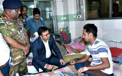 Sayeed Khokon市長がデング熱患者を訪問