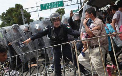 混乱、新しい米国の政策でメキシコとの国境を統治することへの恐怖