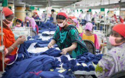 既製服部門の女性労働者減少