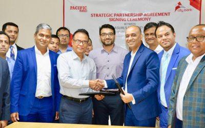 City Bankは、Pacific Casualsと戦略的契約を締結しました