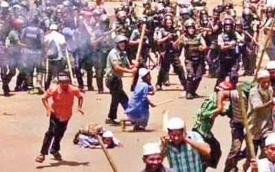 Bholaで警察と衝突して4人が死亡
