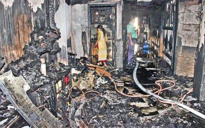 ダンモンディのビル火災で女性が死亡