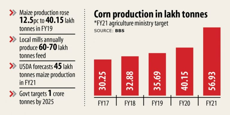 42pc高いトウモロコシ生産の目標セット