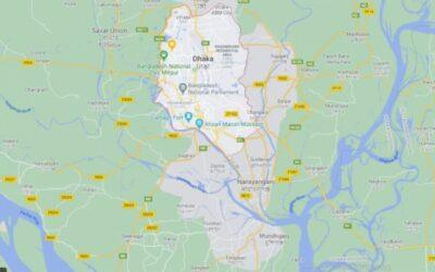 地区間バスダッカ:市内の4つのバスターミナルに選択されたサイト