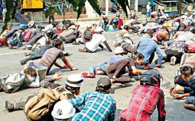 ミャンマーでのクーデター防止デモ:治安部隊が38人の抗議者を殺害