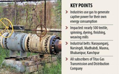 ガス危機はガジプールの縫製工場にも出没します