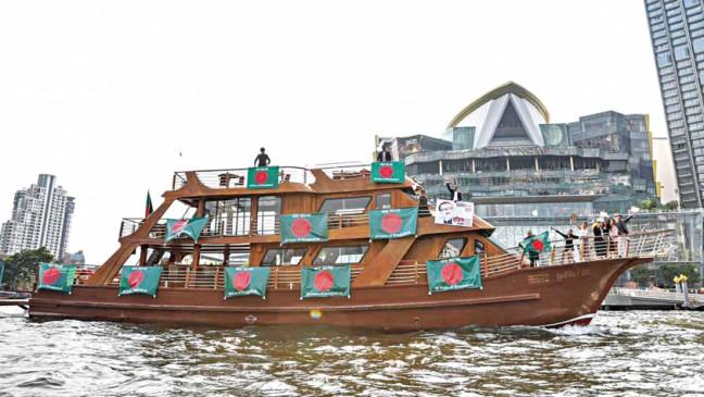 バングラデシュの独立のゴールデンジュビリーでのバンコクでのボートパレード